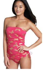 Juicy Couture pink and gold foil swimsuit
