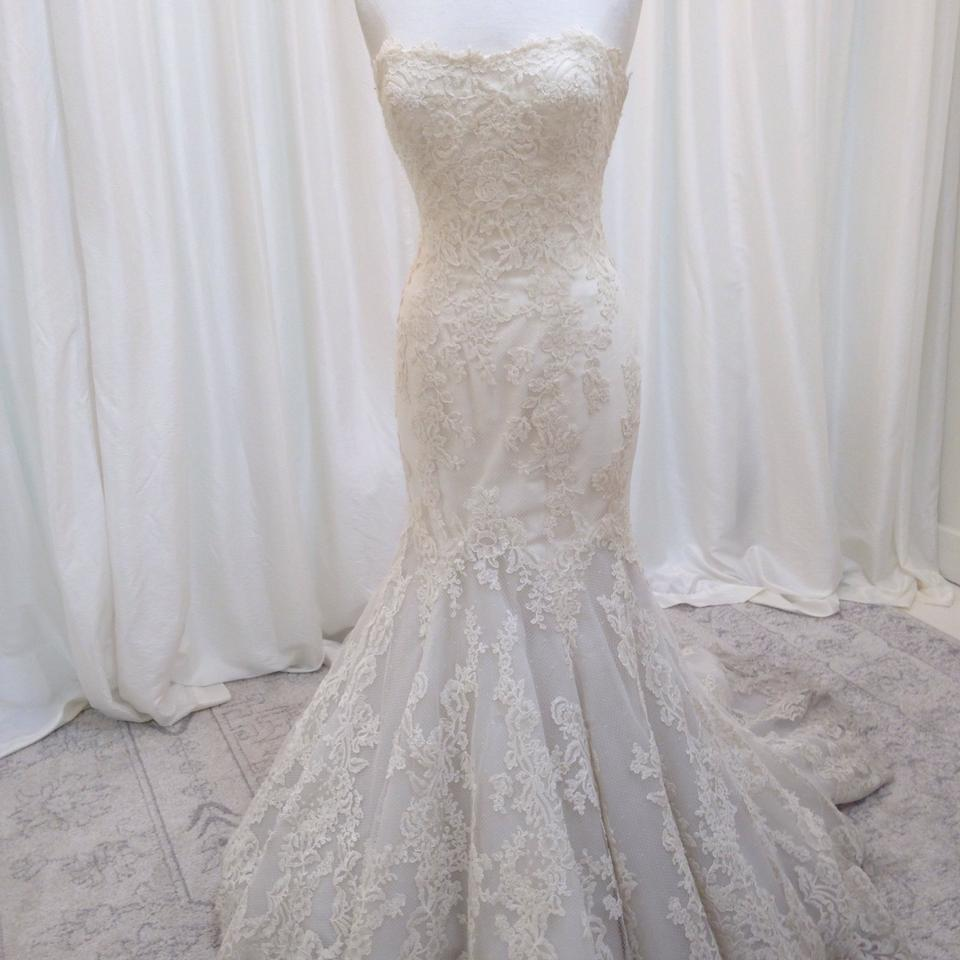 Enzoani Ivory Lace Dakota Traditional Wedding Dress Size 6 (S) - Tradesy