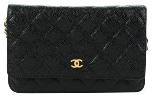 Chanel Caviar Classic Woc Wallet Gold Hardware Cross Body Bag