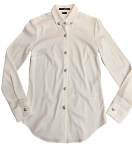 PORSCHE DESIGN Blouse Hardware Buttons Button Down Shirt Off-white