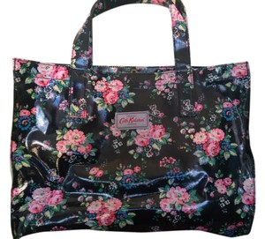 Cath Kidston Tote in Black with flowers