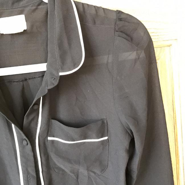 Coincidence & Chance Button Down Shirt black with white trimming