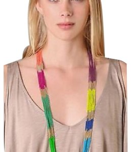 Lee Angel Lee Angel Multi Color Block Chain Necklace NWOT$ 195