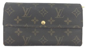 Louis Vuitton #11951 *Clearance* Long Flap Wallet Pocket Card Case Coin Sarah