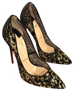 Christian Louboutin black leopard Pumps