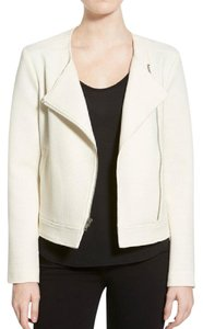 cupcakes and cashmere Waffle Assymetrical Zip Ivory Jacket