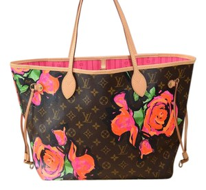 Louis Vuitton Lv Neverfull Mm Neverfull Gm Stephen Sprouse Lv Limited Edition Tote in Monogram with Multi colors
