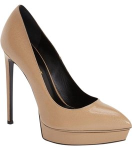Saint Laurent Ysl Beige Nude Pumps