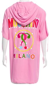 Moschino Logo Print Cotton Monogram Sweatshirt