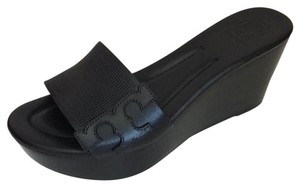 Tory Burch Mikael Wedges Miller Black Sandals