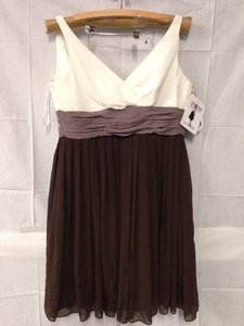 Wtoo Offwhite/light Brown/dark Brown Dress