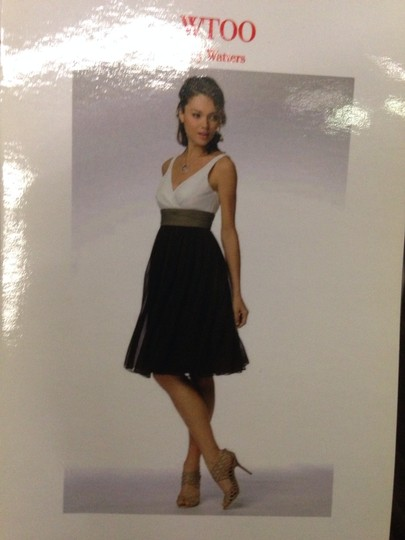 Wtoo Offwhite/Light Brown/Dark Brown Bridesmaid/Mob Dress Size 14 (L) Image 2