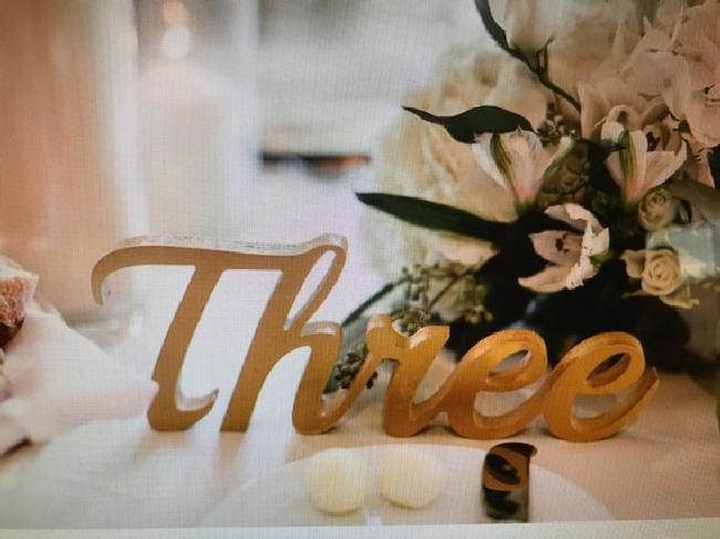 Item - Gold Table Numbers Centerpiece
