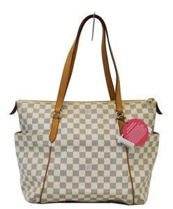 Louis Vuitton Lv Totally Mm Damier Azur Shoulder Bag