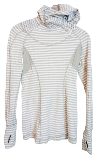 Item - Grey and White Stripe Back On Track Activewear Top Size 4 (S, 27)