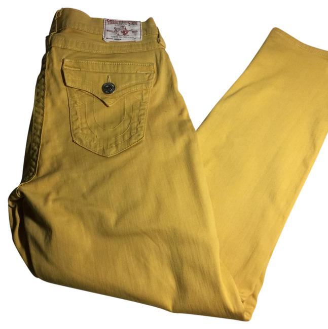 Item - Yellow Distressed Skinny Jeans Size 31 (6, M)