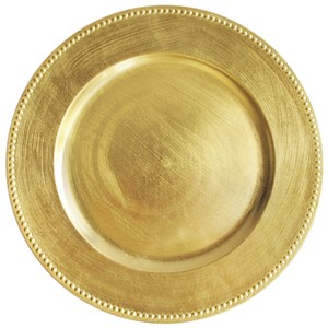 140 Gold Beaded Melamine Chargers