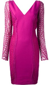 Emilio Pucci Lace Silk Couture Dress