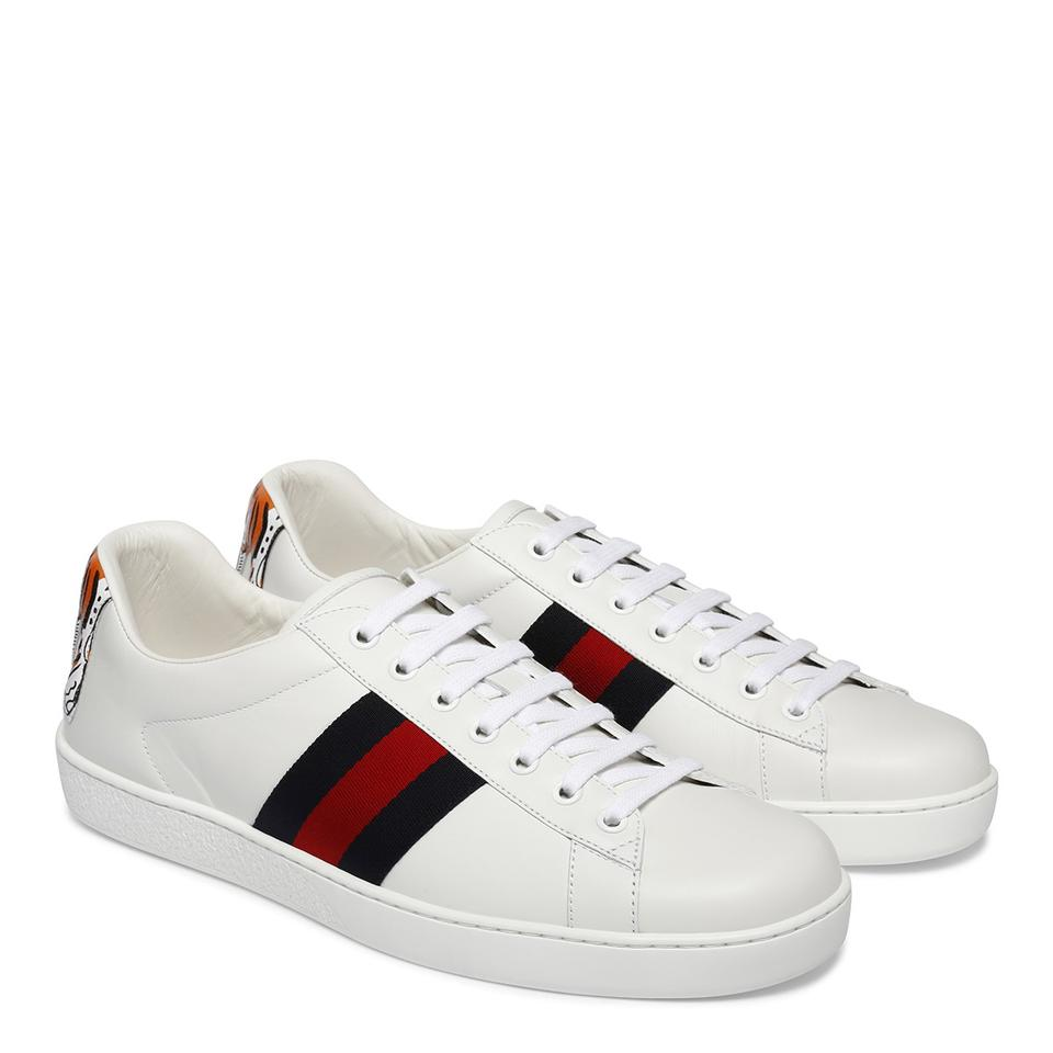 33589ec6b Gucci White Men's Ace Tiger Back Low-top Us11 Sneakers Size EU 44.5 ...