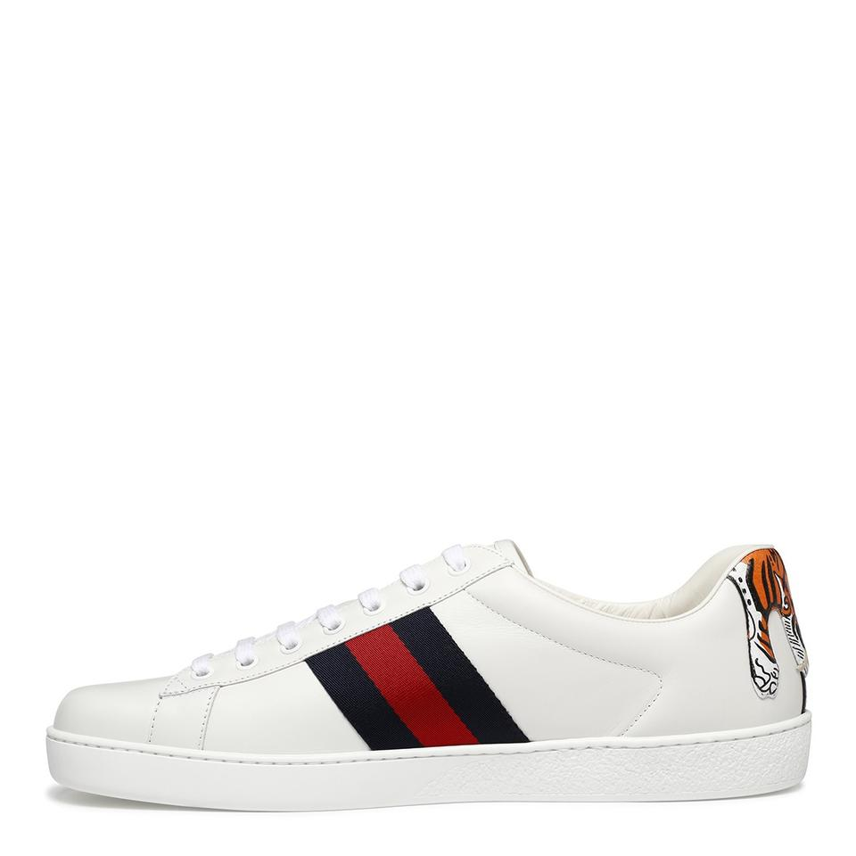 f9bc97f8b79 Gucci White Men s Ace Tiger Back Low-top Sneaker Us11 Sneakers Size EU 44.5  (Approx. US 14.5) Regular (M