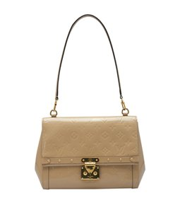 Louis Vuitton Patent Leather Satchel in Beige