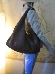 Bottega Veneta Intrecciato Woven Leather Hobo Shoulder Bag