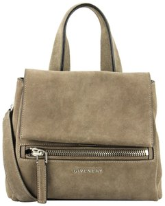 Givenchy Suede Satchel in Light Brown