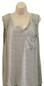 Free People Top blue white