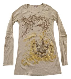 Romeo & Juliet Couture T Shirt Beige With Gold