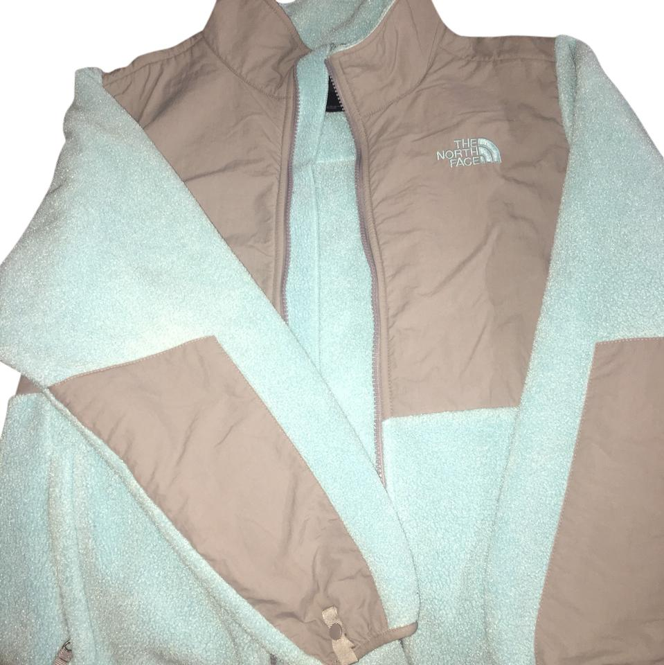 8fb149a38b2c2 The North Face Teal and Gray Fleece Jacket Size 4 (S) - Tradesy
