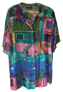 Carole Little Top Multi-colored