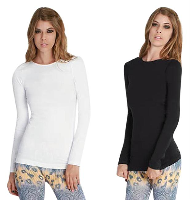 Nikibiki Crewneck Long Sleeve Top Black and White