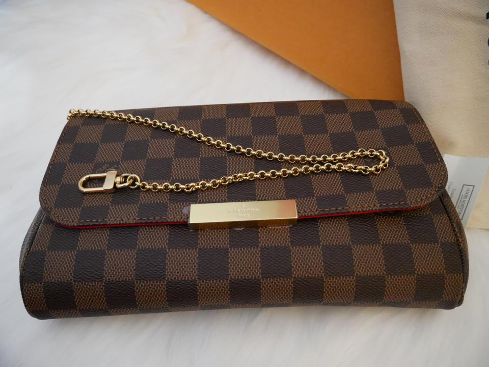 b5fa93465619b Louis Vuitton Favorite Mm Damier Ebene Canvas Leather Cross Body Bag ...