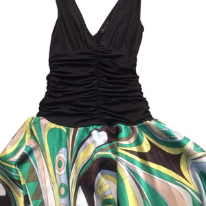 Black/Green/Yellow Maxi Dress by Intrigue