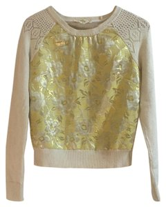 Anthropologie Tapestry Floral Cut-out Spring Sweater