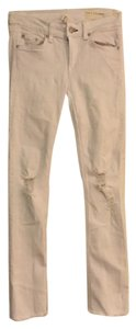 Rag & Bone Distressed Skinny Made In The Usa Cropped Skinny Jeans-Distressed