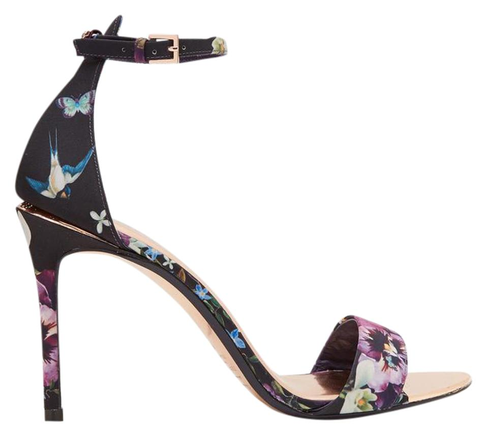 Ted Leather Baker Floral Charv Blossom Leather Ted Ankle Strap (3) Sandals 4a15f0