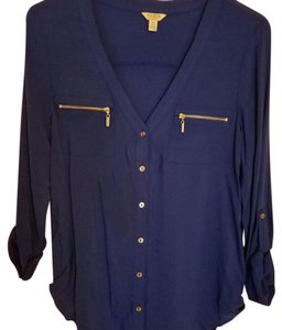 Guess Button Down Shirt Navy blue