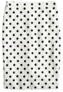 J.Crew Skirt Cream and Navy