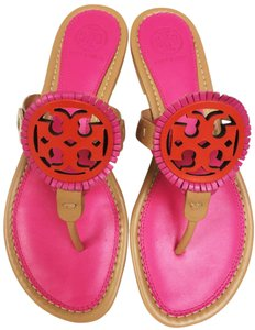 Tory Burch Dusty Cypress/ Hibiscus Sandals