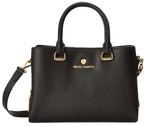 Vince Camuto Handbag Small Camuto Thea Leather Satchel in Black