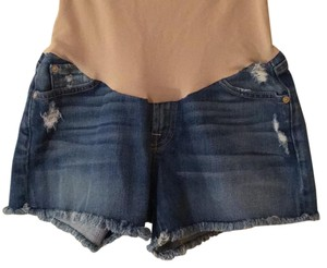 7 For All Mankind Secret Fit Belly 5 Pocket Maternity Shorts