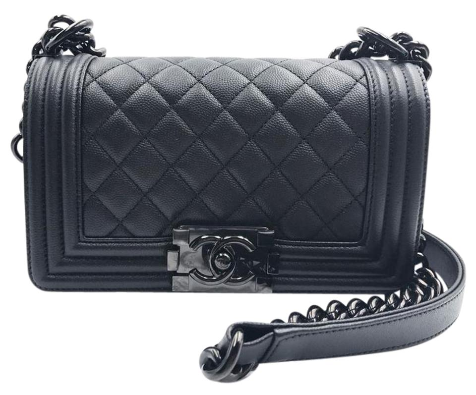 4a4836bd8c00 Chanel Boy 17 Small Le Crossbody with Ruthe So Black Caviar Leather ...