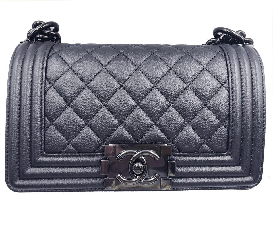 2587d24d69af Chanel Boy 17 Small Le Crossbody with Ruthe So Black Caviar Leather Shoulder  Bag - Tradesy