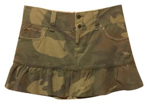Abercrombie & Fitch Mini Skirt camouflage