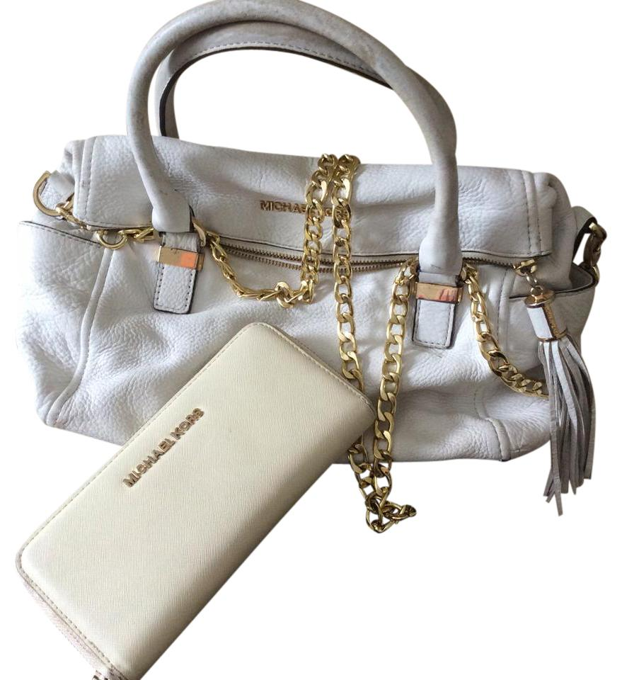 be22cdd2225f Michael Kors Rare Special Edition Satchel and Wallet White Gold ...