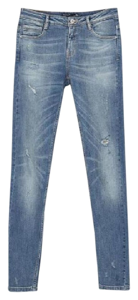 ae4b68d8989 Zara Distressed Denim Destroyed Denim Distressed Size 8 Skinny Jeans- Distressed Image 8. 123456789