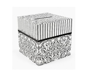 Wedding Black And White Wedding Card Box Black And White Theme