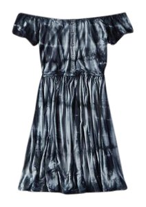 American Eagle Outfitters short dress Blue Tie-dye Off The Shoulder Short Sleeved Scoop Back Scoop Neck on Tradesy