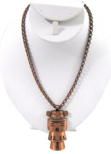 bell trading company VINTAGE Solid Copper Necklace Kachina Totem Pendant